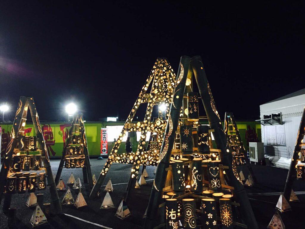 竹灯りオブジェ
